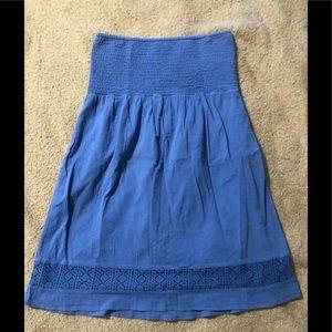 Gap strapless blue dress size Large